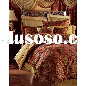 7pcs Specialized In Jacquard/Silk Comforter Set Of Bedding