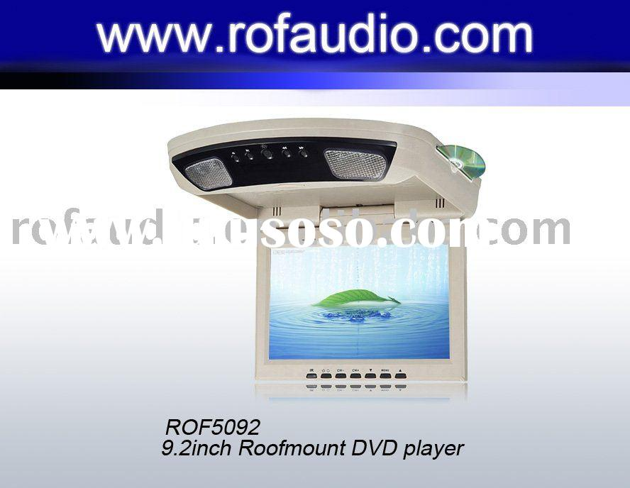 9.2 inch Roof mount DVD player with DVD,TV,IR,FM+USB+SD