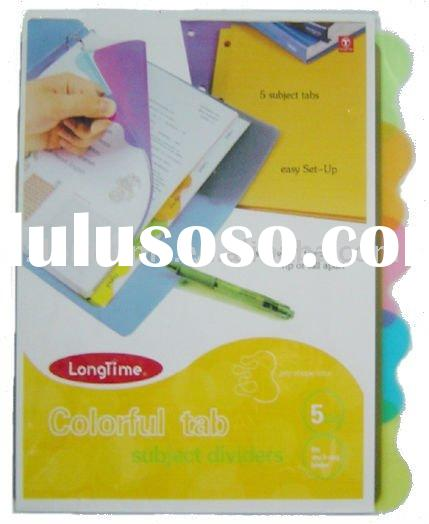 A4 tab index dividers for 3 ring binder