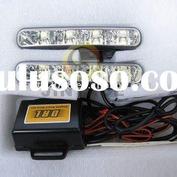 Europe Auto LED DRL daytime running lights E-mark R87 Automatic drl On/Off switch