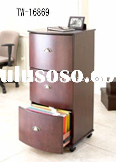 Office Vertical Wooden File Cabinet