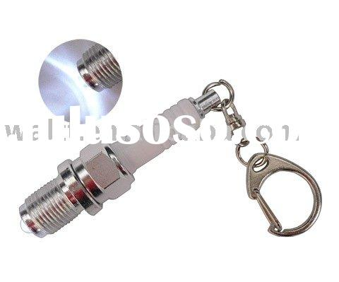 Spark Plug LED Torch Keychain, Spark Plug LED Keyring, Mini Spark Plug, Spark Plug Light, Auto Key c