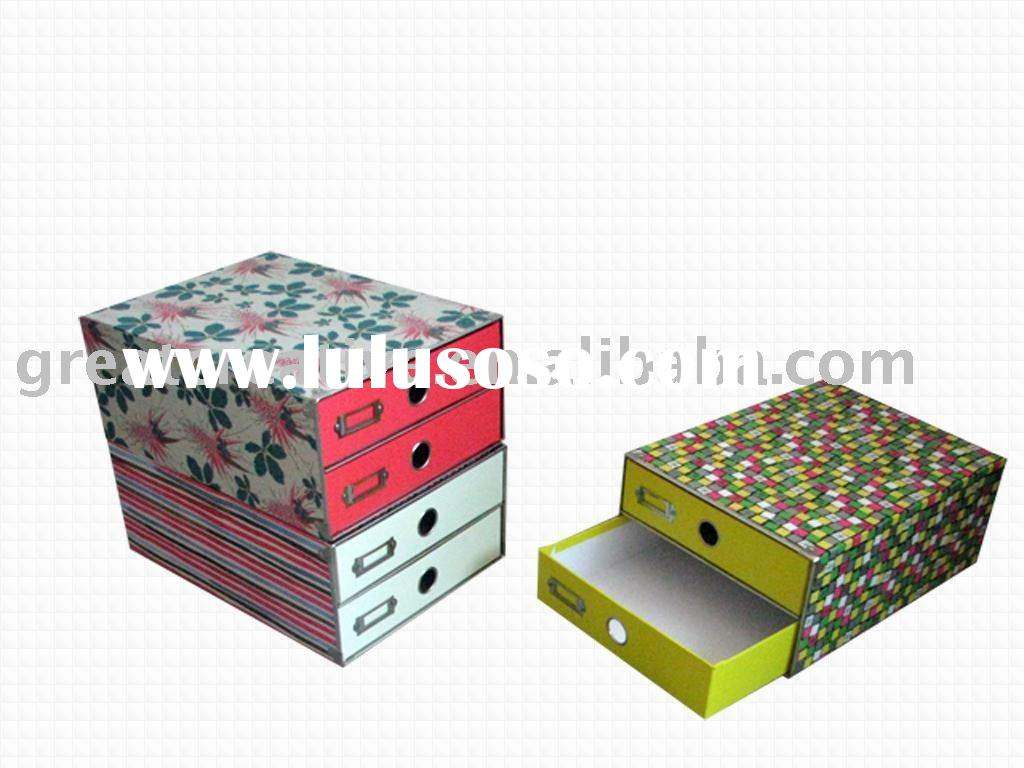 Two drawers document holder paper box