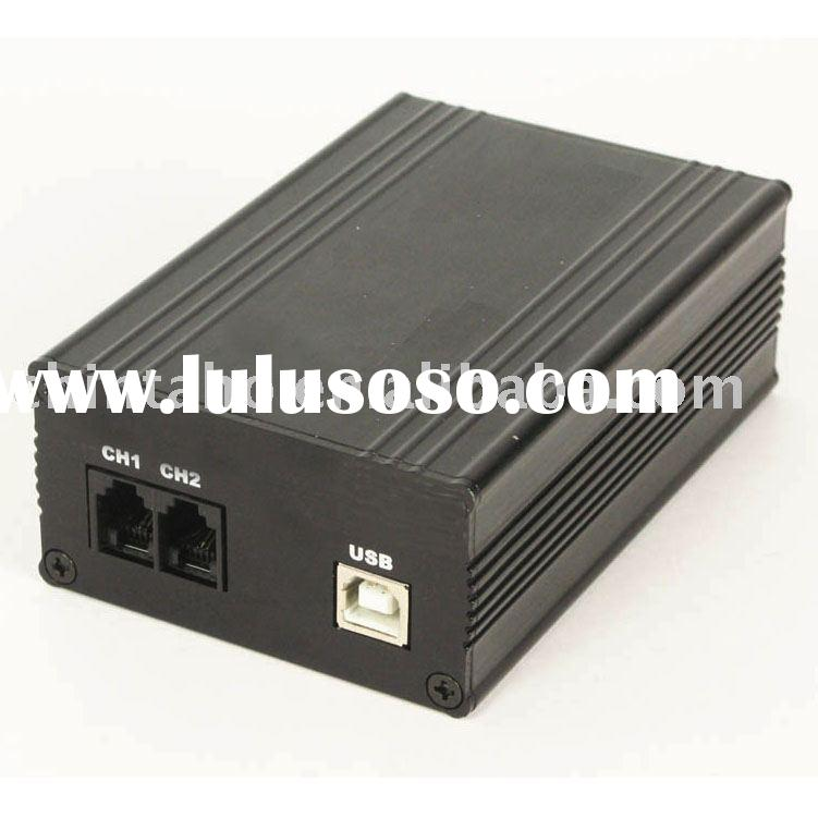 Two-way duplicate receptable digital telephone recording box (WT-3029A1)