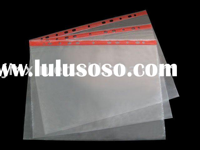 sheet protector,clear file holder,pp document bag, stationery,office stationery