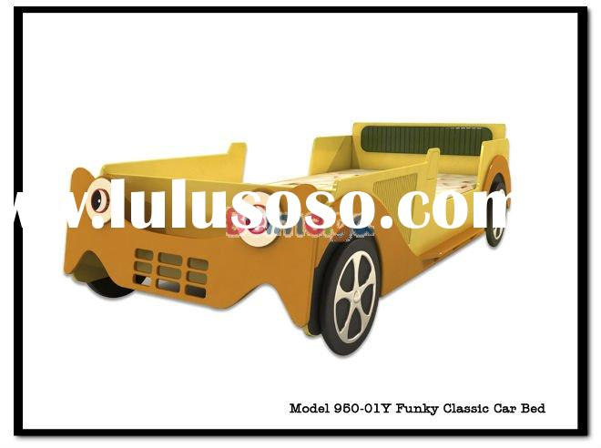 BEIMIKA Yellow Color Funky Classic Car Bed 950-01Y