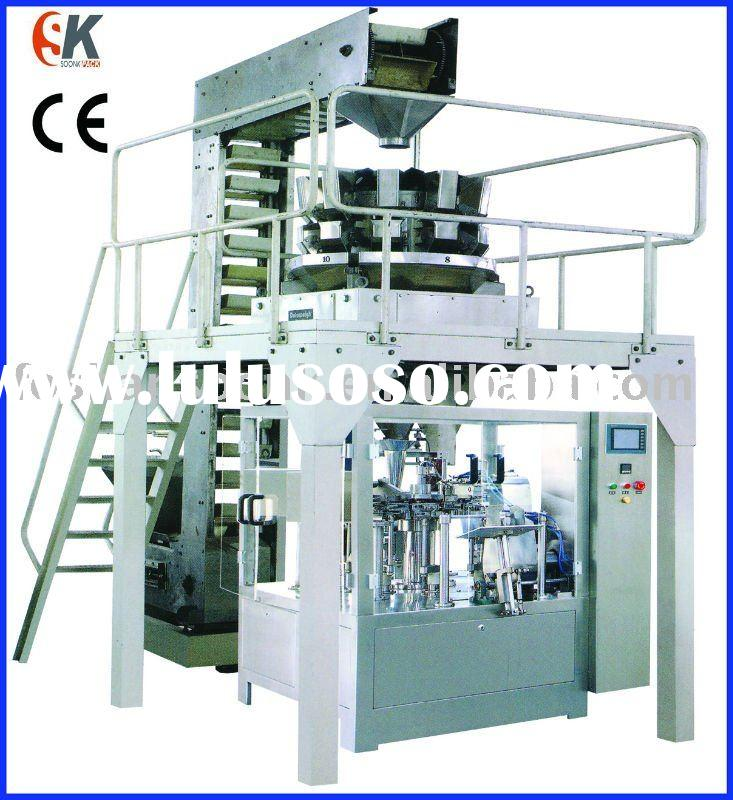 Bag-given packing machine for food