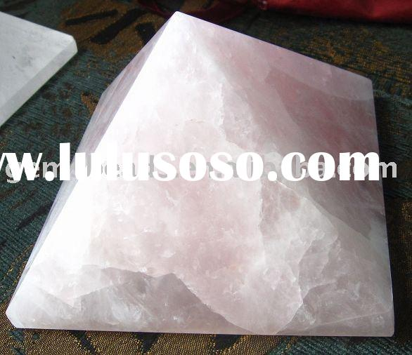 Factory supply large rose quartz crystal pyramid decoration