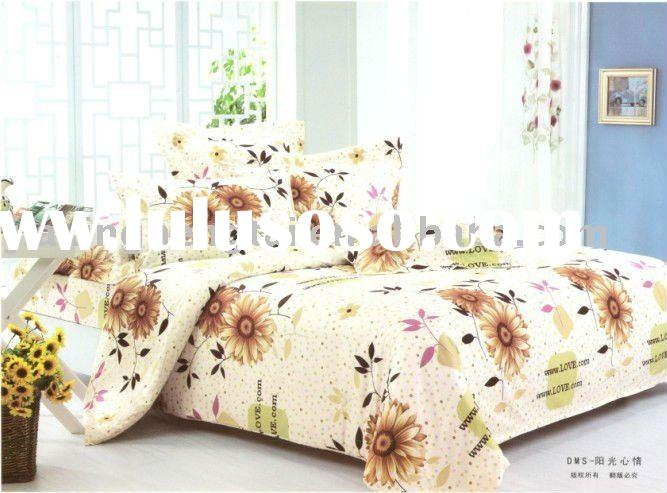 Fashion 100% Cotton printing bed Sheets 4pcs Bedding Set For Wholesale & Customized
