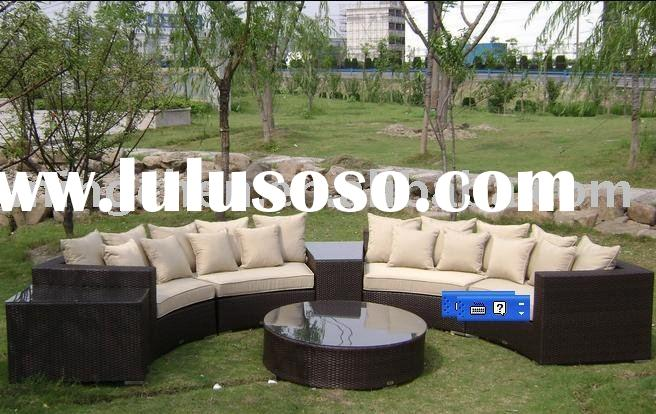 GIANT! WICKER SECTIONAL SOFA OUTDOOR PATIO FURNITURE 30