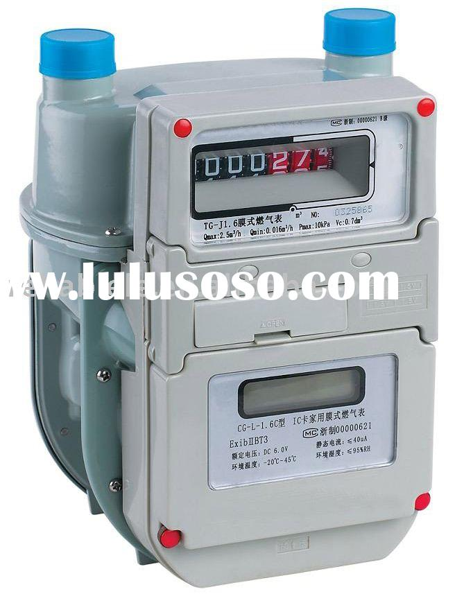 IC Card Household Diaphragm Type Gas Meter