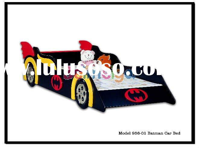 Kids Hot Sale Classic Black MDF Bat Car Bed for Boy 956-01