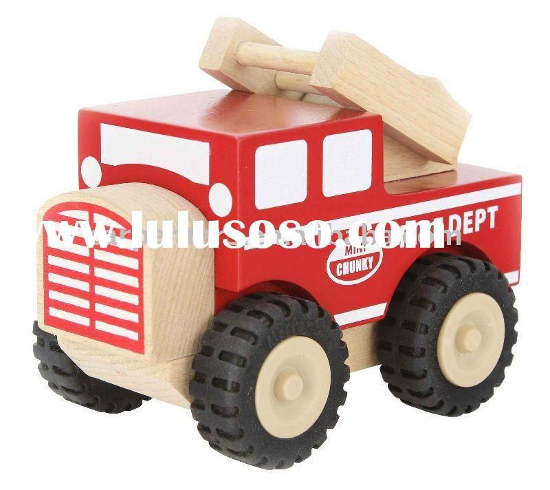 Mini Chunky Fire Truck - Wooden Toy Car