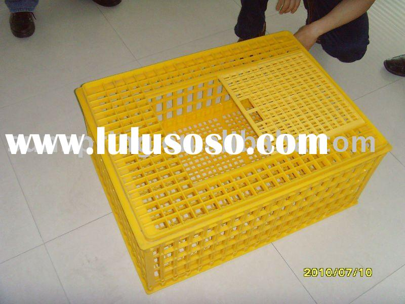 Plastic fowl crate chicken cages crate