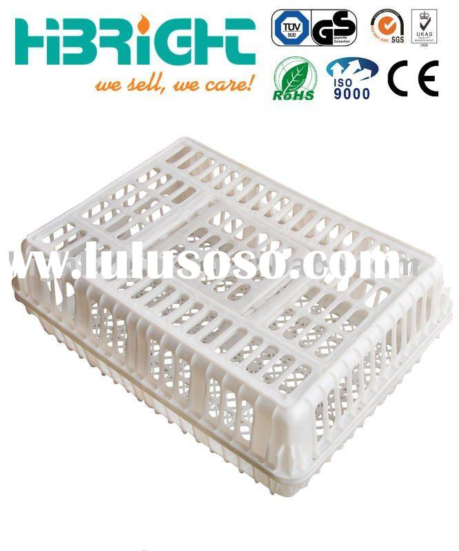 Plastic poultry transport crate chicken coop