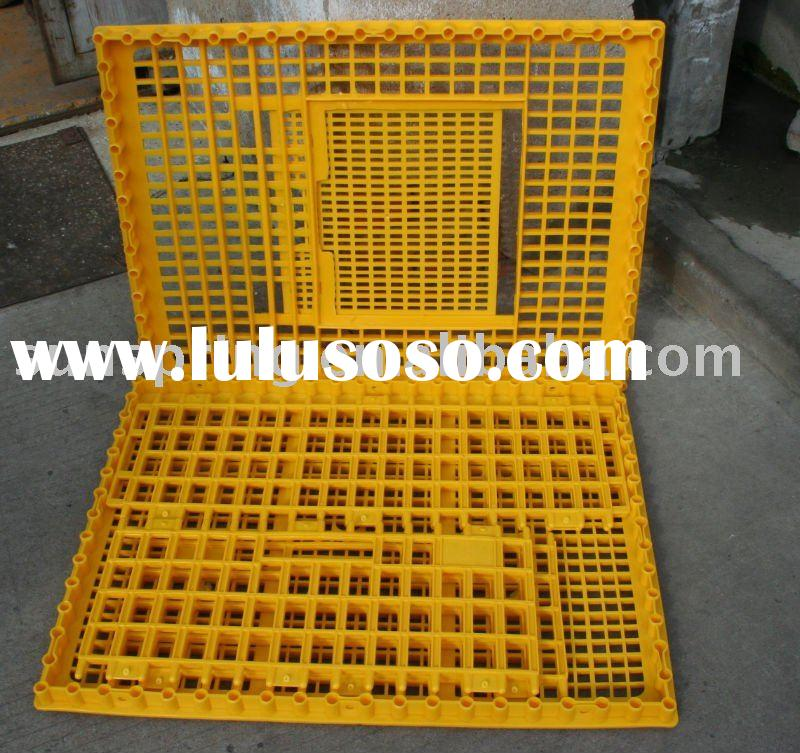 transport the plastic chicken crate cages