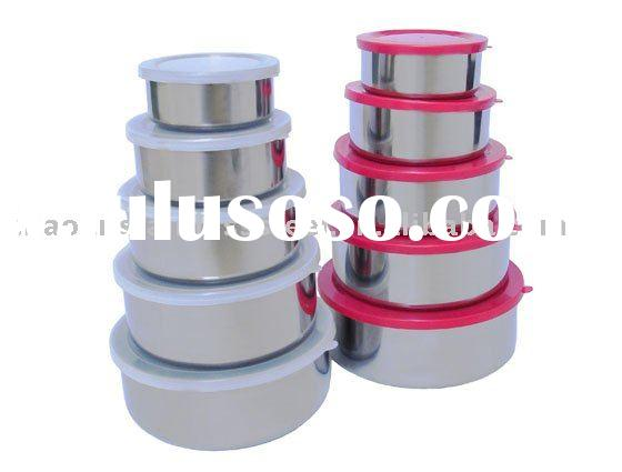 5 pcs stainless steel food container set
