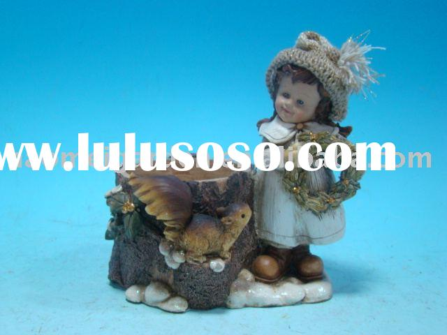 "6""polyresin little winter Kids christmas gifts"