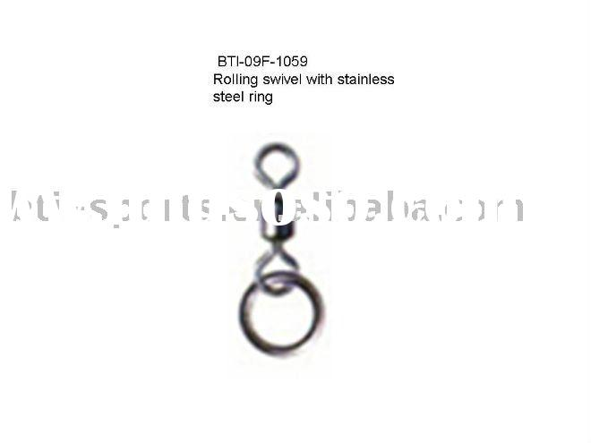Carp fishing tackle--Rolling swivel with stainless steel ring