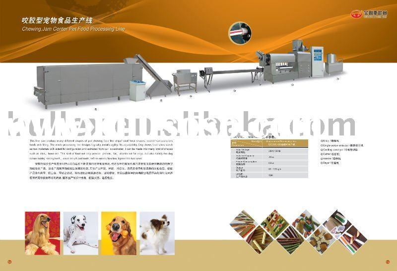 Chewing dog food processing line