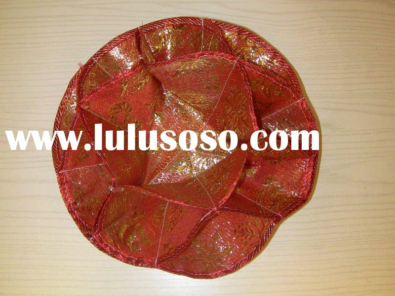 Chinese style satin wedding gift food container