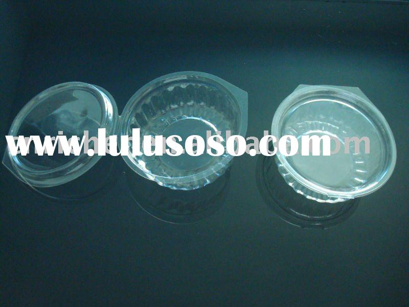 Disposable PET plastic food storage container