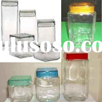 Glass Food Container, glass jar, kilner jar, glass canister
