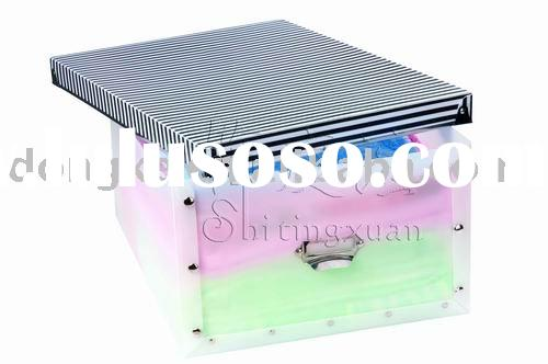 Plastic stainless steel food storage container,cold storage container