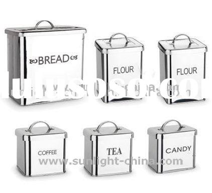 Set of 6 Stainless Steel Bins/ food container