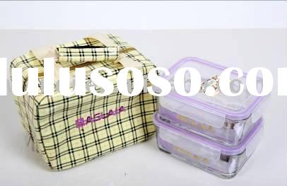 gift set tempred glass food container