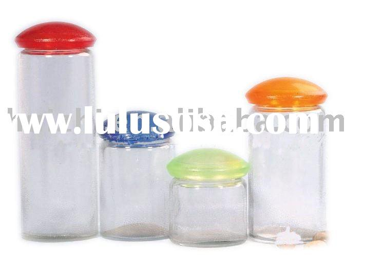 glass food container with plastic lid