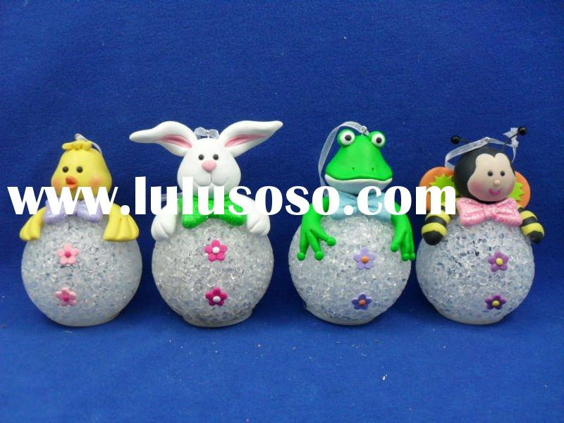 pretty animal Easter craft/ornament which is made of polymer clay is widely used on Easter as a gift