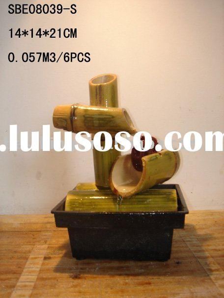 Bamboo fountain(Indoor Tabletop water fountain) SBE08039-S