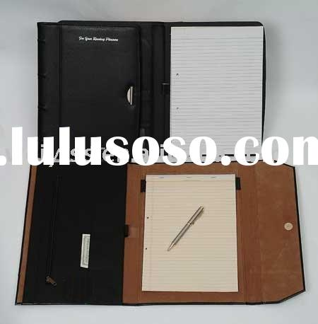Business leather conference notebook