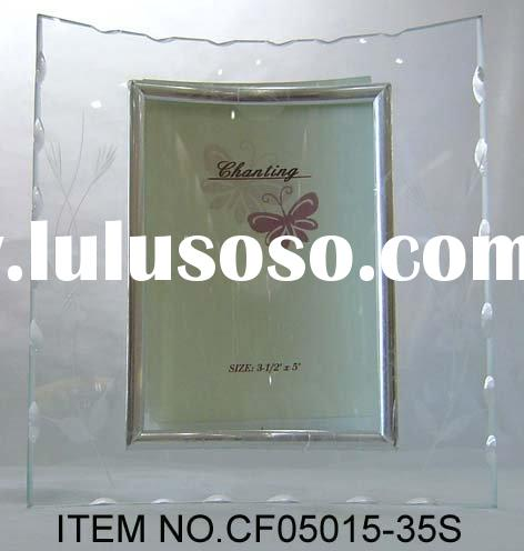 Curved Glass Photo Frame with Etched Artwork(CF05015-35S)