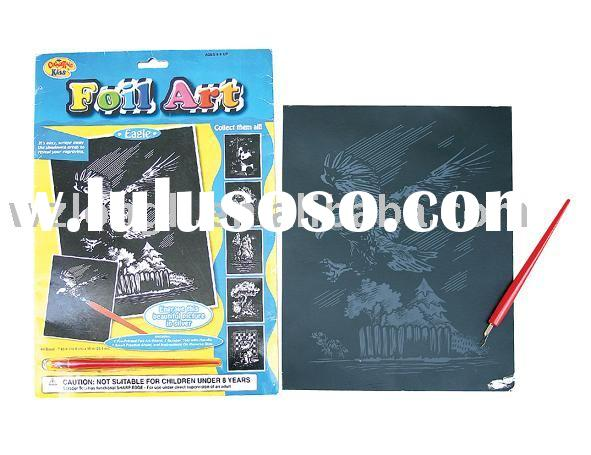 DIY paper craft engraving scratch art