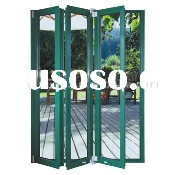 Debridged Aluminum Folding Doors