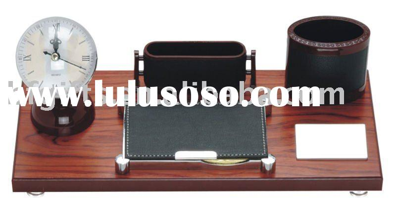 Desk set,Clock,Pen holder:BF10069