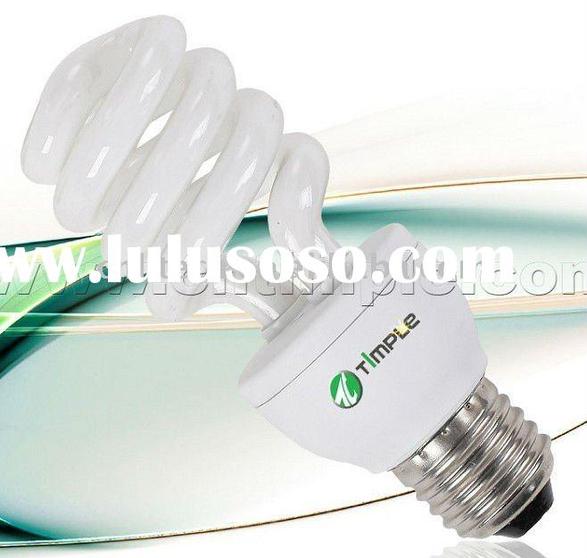 Dimmable half spiral energy saving light bulb CFL 15W