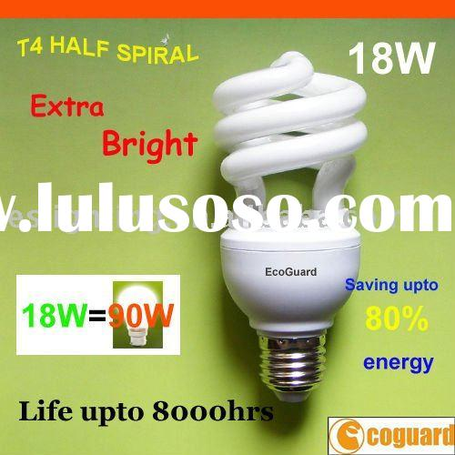 Energy Saving Lamp Half Spiral Compact Fluorescent Lamp (CFL) 18W with PBT Lamp Holder (EHS4018A)