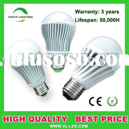 Energy-saving No heat 3w 5w 7w E27 high power  led bulb