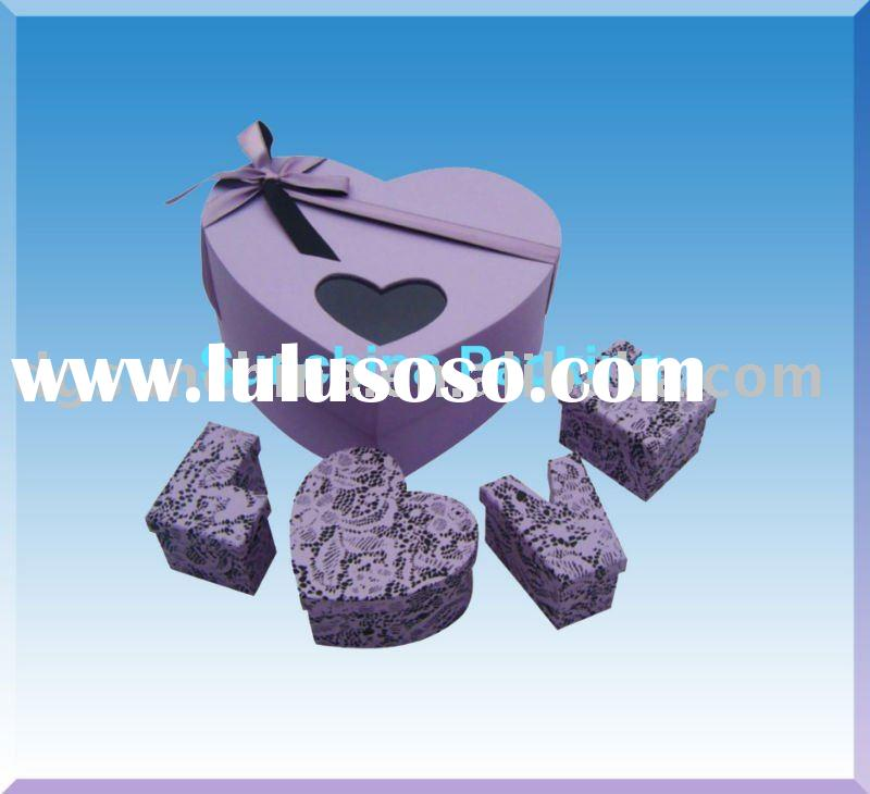 Fashion heart shape design paper box for gift packing