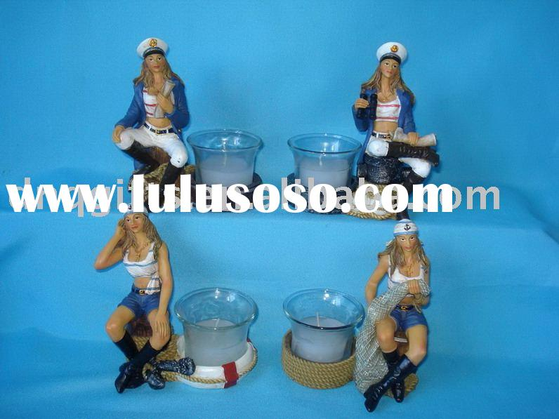 Female Sailor Candle Holder
