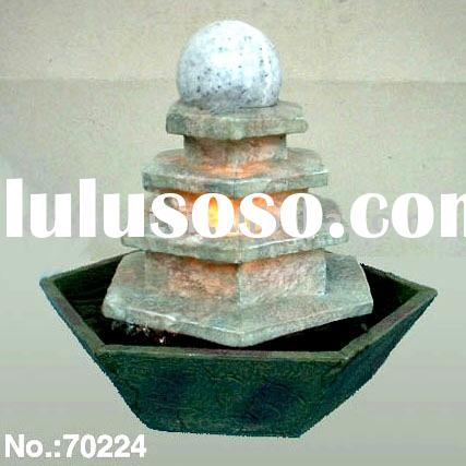 Five Tiers Feng Shui Ball Tabletop Water Fountain with Lamp