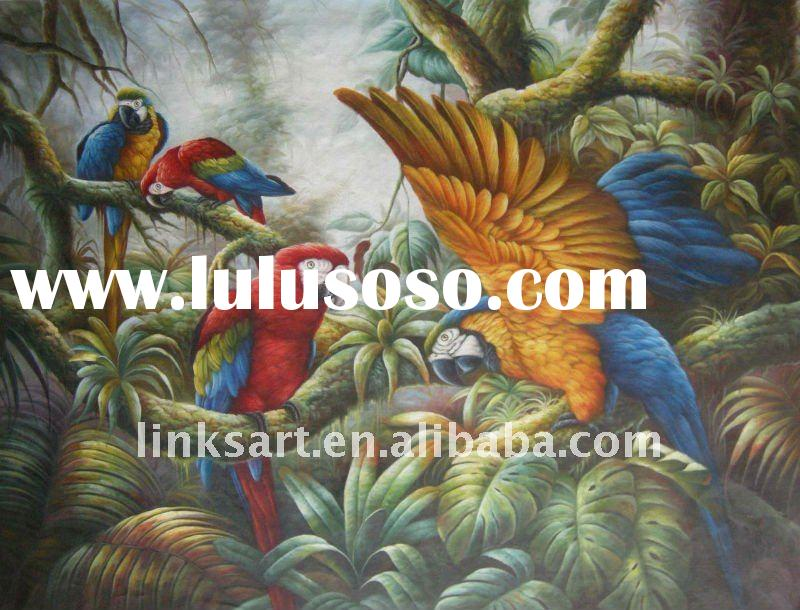 Good Quality Animal Oil Painting Parrot Painting