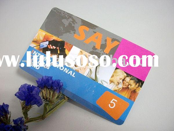 High Quality Plastic Telecom Card