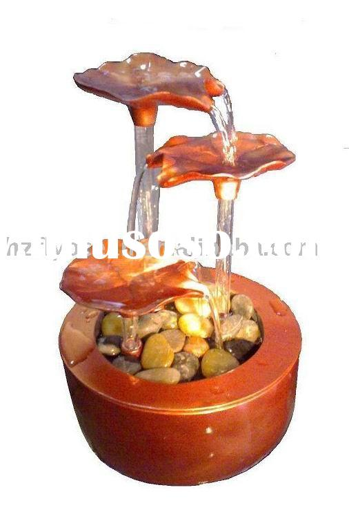 Lotus Leaves Tabletop Water Fountain(FO-0424)