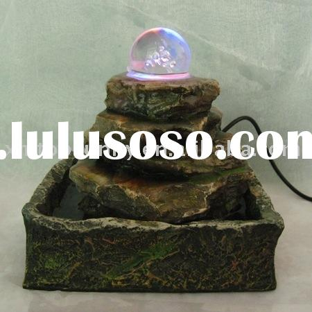 Mini Polyresin Fountain for Tabletop Decoration