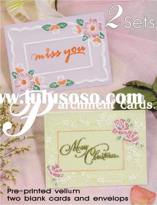 Parchment Card DIY For Paper Craft
