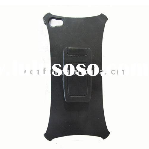 Plastic holder stand with belt clip for iPhone 4G. for iphone 4G holder stand with belt clip